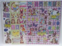 4 Ostern Stickerbögen ca. 190 Sticker / Aufkleber - Ostern - Diesen und weitere Artikel finden Sie bei Marias-Einkaufsparadies.de! (www.marias-einkaufsparadies.de)