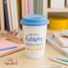 "Tasse to go ""Smile! Mr Wonderful, Mug Original, Take Away Cup, Pause Café, Four Micro Onde, Reasons To Be Happy, To Go, Decoration Originale, Paper Organization"