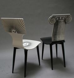 I really want a this Fornasetti chairs on my living room