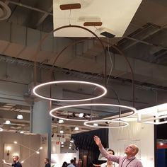 U-Light suspensions at ICFF #ulight #timoripatti #axolight #design #icff2016 #NewYork