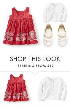 """Red Dress"" by babiesswardrobe ❤ liked on Polyvore featuring H&M"