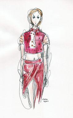 Maria Mota, aluna do Mestrado de Ilustração e Animação do IPCA - desfile Anabela Baldaque.
