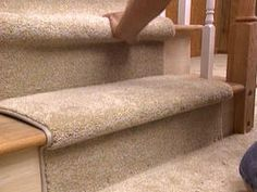 How to Install a Carpet Runner on Stairs via HGTV >> Good to know!
