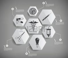 インフォグラフィック: 医療のインフォ グラフィック デザイン、柔らかい灰色