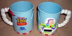 Set Of Two Buzz Lightyear Walt Disney Toy Story Mugs - $35.00 : Vintage Collectibles Sewing Patterns Postcards Aprons Ephemera