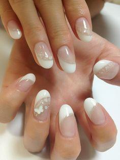 ホワイト×ターコイズブルーフレンチ☆ 桑名のネイル 〜NAILSLEI ネイルズレイ〜の画像 | NAILS LEIのブログ