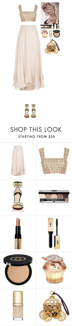 """Modern Cinderella"" by eliza-redkina ❤ liked on Polyvore featuring Chloé, Oscar de la Renta, Christian Louboutin, Bobbi Brown Cosmetics, Gucci, House of Sillage, Dolce&Gabbana, modern, outfit and like"