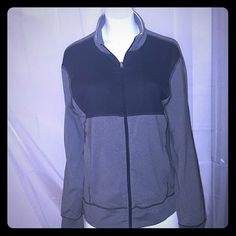 Lululemon zip front Jacket Heather gray and black panel top lululemon athletica Jackets & Coats