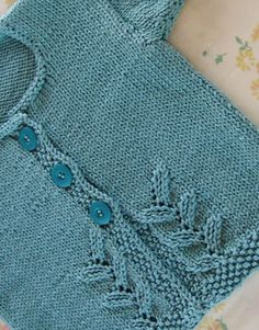 Free and easy cotton baby sweater knitting pattern