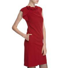 Hoss Intropia Scarlet Drape Front Dress size 6
