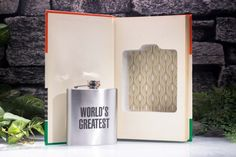 Vintage Hollow Book Safe and Hip Flask  Guiness by HollowBookCo