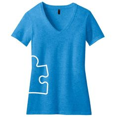 Autism Speaks Brilliant Blue Hip Wrap Tee