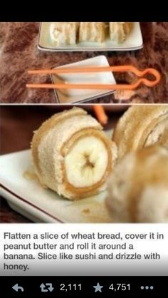Peanut butter banana roll