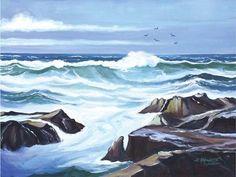 Framed Ocean Waves Print Art Store, Ocean Waves, Fine Art Prints, Beautiful Places, Explore, Artwork, Image, Work Of Art, Waves