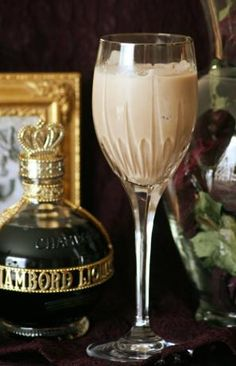 Rasamarula (serves 2) - (Shake together with ice: 4oz Amarula Cream liqueur, 1.5oz vanilla vodka, 3/4oz creme de cacao, 2oz Chambord raspberry liqueur. Strain into glasses) -- [OOX]