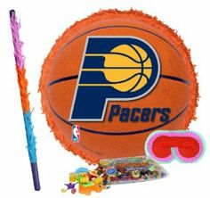 """Indiana Pacers Basketball - Pinata Party Pack Including Pinata, Pinata Candy and Toy Filler, Buster and Blindfold by Pinata. $42.05. Indiana Pacers Basketball - Pinata measures approximately 17"""" in diameter and 3"""" deep. Includes approximately 2 pounds of Candy and Toys. Caution: not recommended for children under 3 years of age. Includes one hard Plastic Pinata Buster that measures approximately 30"""". Caution: use only under adult supervision. Includes one Blindfo..."""
