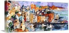 """Vernazza+Dolce+Vita+Panorama+Mixed+Media""+by+Ginette+Callaway,+Lovejoy+//+I+take+my+original+oil+and+watercolor+paintings+and+create+derivatives,+by+applying+skillful+and+delicate,+digital+changes+to+enhance+the+subject+and+create+a+contemporary+unique+piece+of+art.+These+are+available+from+small+to+very+large.+Everything+I+create+is+original.+For...+//+Imagekind.com+--+Buy+stunning+fine+art+prints,+framed+prints+and+canvas+prints+directly+from+independent+working+artists+and+photographers."