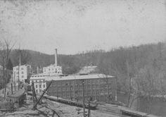 Joseph Bancroft & Sons Rockford plant Wilm DE 1900's along the Brandywine river.