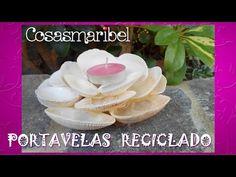 Como hacer portavelas reciclando conchas de mar. - YouTube