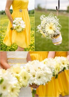 That color yellow for the dresses