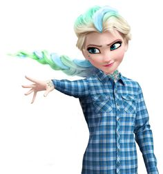 Alternative Queen Elsa, not the best I've seen but still pretty good. Punk Disney, Disney Love, Disney Girls, Frozen Film, Elsa Frozen, Disney Frozen, Disney And Dreamworks, Disney Pixar, Walt Disney