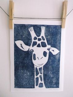 Alfie the Giraffe Children's Illustration  by SashaDeWittStudios, £20.00