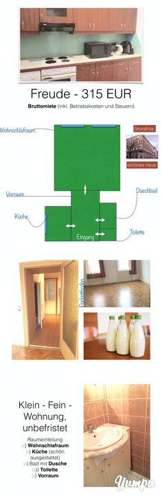 """Was Wo Wie - echt cool  """"315 Euro"""" und """"unbefristet"""" Ich komme ..... - Magazine with 8 pages: Was Wo Wie - echt cool  """"315 Euro"""" und """"unbefristet"""" Ich komme .....   Klein - Fein - Wohnung im zweiten Liftstock in einem sehr schönen Haus !   Die unbefristete Wohnung liegt im zweiten Liftstock und verfügt über folgende Einteilung.   _ Vorzimmer (toller Empfang) _ Küche (lieb & gut ausgestattet) _ Bad mit Dusche _ extra Toilette _ Wohnschlafraum   D..."""