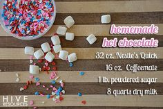 Recipe for Homemade Hot Chocolate {Hive Resources}