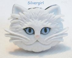 Hey, I found this really awesome Etsy listing at https://www.etsy.com/listing/223945197/fun-large-plastic-white-cat-head-gold