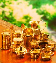 Buy Miniature Chai And More With Brass Kitchen Ware