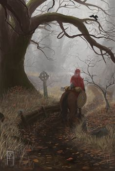 Misty Path Art Print by Zen with a Pen - X-Small Fantasy World, Paths, Zen, Art Prints, Digital, Painting, Inspiration, Products, Art Impressions