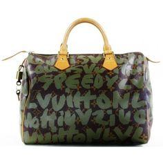 Louis Vuitton Limited Edition Stephen Sprouse Khaki Graffiti Speedy 30 Bag