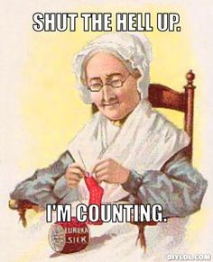 sassy knitting grandma by magdalena