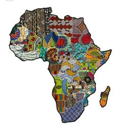 Africa is stitched together beautifully! African Collage by The Baobab Telegraph. African Quilts, African Textiles, African Fabric, Kenya Africa, South Africa, Afrique Art, Arte Popular, African Culture, African Fashion