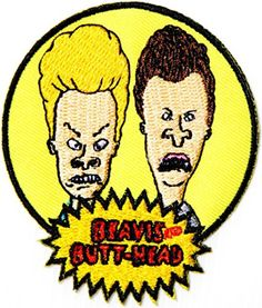 Beavis and Butt Head Logo Sing Emblem Cartoon Comics Patch Sew Iron on Embroidered Applique Collection By PatchPremium - Brought to you by Avarsha.com