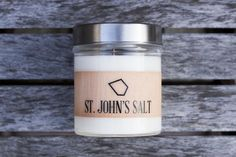 St. John's Salt Scented Soy Candle