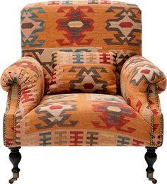kelim armchair, ilva