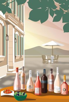 Mathilde Crétier — overview Travel Illustration, Flat Illustration, Illustrations, Digital Illustration, Lifetime Movies, Painting Patterns, Painting Art, Business Inspiration, Fine Art Gallery