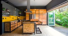 Couple's garage becomes their chic new home