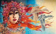 #colordrowing #coloringbook #hannakarlzon #hannakarlzonseasons