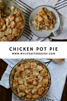 This dairy free Chicken Pot Pie is the ultimate comfort food. It's creamy filling packed with chicken, carrots, celery, and peas leaves you full and satisfied. With a flaky dairy free crust, this dish makes the perfect comforting dinner. Chicken Recipes Dairy Free, Yummy Chicken Recipes, Yum Yum Chicken, Creamy Tomato Sauce, Flaky Pastry, Create A Recipe, Free Meal, Pastry Blender, Comfortfood