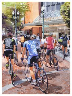 """Bicycles On Broadway"" by Mike Hill"