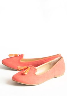 Afternoon Lounging Loafers In Coral | Modern Vintage New Arrivals