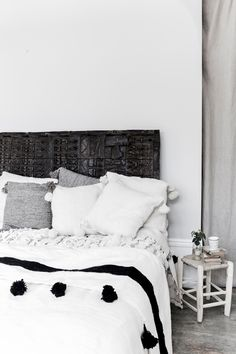 my scandinavian home: A wonderfully relaxed, boho Skåne home Interior Design Inspiration, Home Decor Inspiration, Decor Ideas, Design Ideas, Home Bedroom, Bedroom Decor, Bedrooms, Bohemian Chic Decor, Black And White Interior