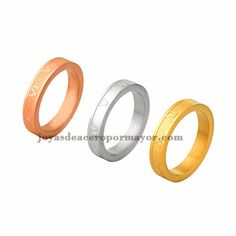 4mm stainless steel three color band ring on sale-SSRGG831352