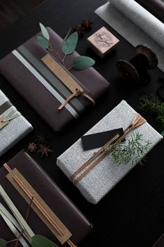 my scandinavian home: 5 Beautiful Gift Wrapping Ideas with a Natural Touch - photo Therese Knutsen Present Wrapping, Creative Gift Wrapping, Wrapping Ideas, Creative Gifts, Elegant Gift Wrapping, Christmas Gift Wrapping, Diy Christmas Gifts, Christmas Ideas, Diy Gifts