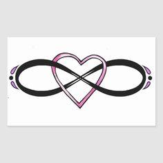 Unique Infinity Tattoo, Infinity Name Tattoo, Infinity Drawings, Heart With Infinity Tattoo, Infinity Tattoo Designs, Infinity Signs, Infinity Symbol, Ring Tattoo Designs, Tattoo Designs And Meanings