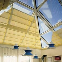 thiet-ke-mai-che-gieng-troi_r1_c1-7 Blinds, Ceiling Lights, Curtains, Lighting, Home Decor, Sunroom Blinds, Insulated Curtains, Homemade Home Decor, Ceiling Light Fixtures