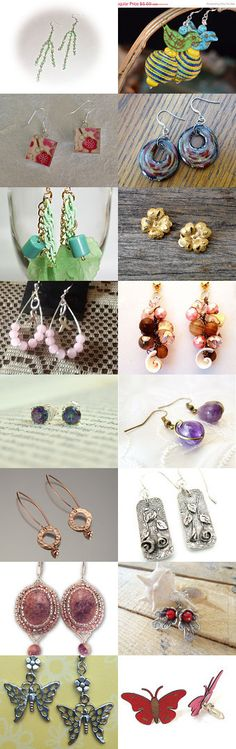 Decorate your EARS!  by Andrea Lambert on Etsy--Pinned with TreasuryPin.com #jewelry #earrings #necklace #bracelets
