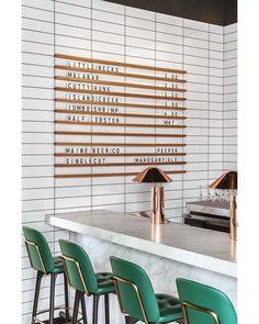 "589 curtidas, 14 comentários - Alexandra Kidd Design (@alexandrakidd) no Instagram: ""LUXE bar setting at Glass House, designed by Hacin + Associates. The interiors consist of a minimal…"""